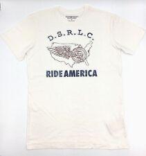 $95 Ralph Lauren Men White Red Blue Ride America Map Crew Neck T Shirt Tee 2xl
