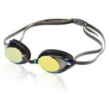 Speedo Vanquisher 2.0 Mirrored Swim Goggle, Black/Gold