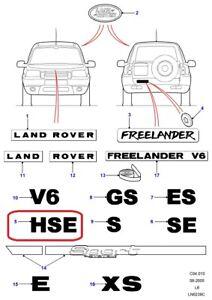 "( 1 ) GENUINE LAND ROVER DAM500120LQQ ""HSE"" Emblem-Grey"