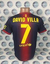 BARCELONA 2012 2013 #7 VILLA HOME FOOTBALL SOCCER SHIRT JERSEY CAMISETA BOYS