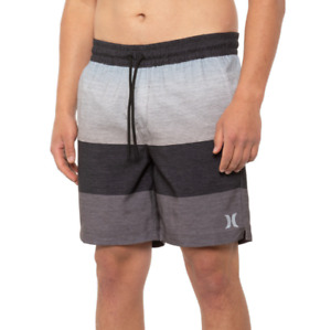 """Hurley Shorts Mens Size Large Grey Volley Swim Trunks - 18"""" Lined Shorts New"""