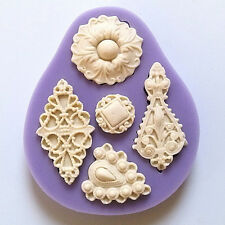 Purple Vintage Jewelry Mould Cupcake Silicone Fondant Chocolate Cake Mold