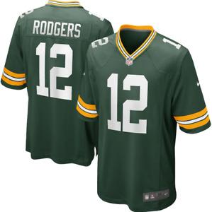 Herren NFL Aaron Rodgers #12 Green Bay Packers American Fußball Trikot Jersey DE