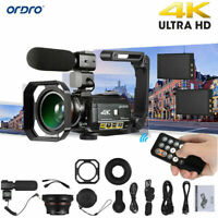 ORDRO AC3 4K WiFi Digital Video Camera Camcorder 24MP 30X Zoom IR DV Recorder