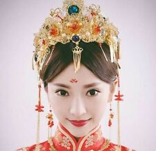 Red Head Jewelry Bridal Hair Accessories Pearls Chinese Style Headband Wedding