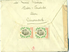 DENMARK COVER WITH 3 JUL X-MAS VIGNETTES 1942 to BOHEMIA-MORAVIA NAZI CENSOR WW2