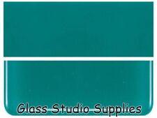 Bullseye Thin Teal Green Opal Kiln Fusing Glass 90coe 144-50