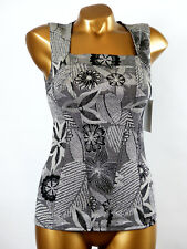 Arianne - SIZE S - Top Corsage 5144 Dahlia, Color:Black/Silver