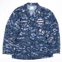 Vintage US NAVY Blue Digital Camo READYONE Shirt Size Men's Medium