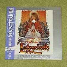 LABYRINTH [David Bowie] - RARE 1987 JAPAN LASERDISC + OBI & POSTCARD (EHL-1094)