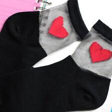 Herz-Muster-transparente nette Art-Weisefrauen-Mädchen-Socken Weichebequemes