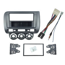 1 Double Din Radio Fascia for Honda Jazz Stereo Panel Trim Kit With ISO Wiring
