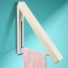New Stainless Folding Wall Hanger Mount Retractable Clothes Indoor Hangers Rack