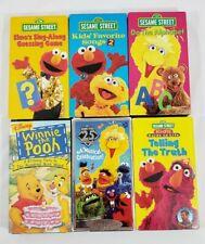 Sesame Street VHS Tapes Lot of 6 Big Bird - Elmo - Oscar - Cookie Monster