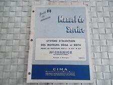 MANUEL DE REPARATION  SYSTEME D'INJECTION DES MOTEURS DD66 et DD74