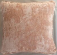 A 16 Inch cushion cover in Laura Ashley Caitlyn Coral Velvet Fabric