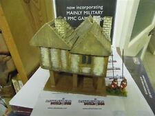 28MM PMC GAMES ME19 (PAINTED) TWO STOREY HOUSE ON STILTS SLATE ROOF - MEDIEVAL