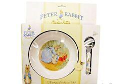 BEATRIX POTTER PETER RABBIT CLASSIC BOWL AND SPOON SET BNIB
