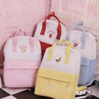 Japanese Sweet Lolita Small Fresh Kawaii Strawberry Canvas Backpack Shouder Bag