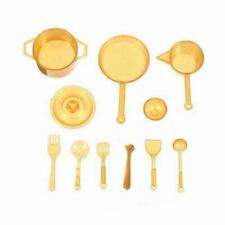10pcs 1:12 Scale Dollhouse Miniatures Food Kitchen Pot Spoon Utensils Tableware