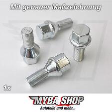 1x Radschraube M12 x 1,25 x 22 Felgen für Alfa Romeo Fiat Lancia Ford Opel #NEU#