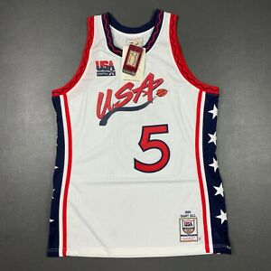 100% Authentic Grant Hill Mitchell & Ness 1996 USA Jersey Size 44 L Mens