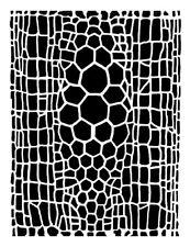 high detail airbrush stencil gator skin FREE UK POSTAGE