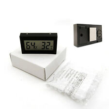 Black Digital LCD Indoor Temperature Humidity Meter Gauge Thermometer Hygrometer