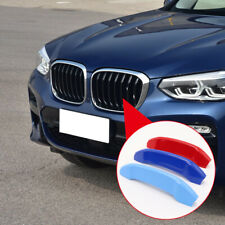 For BMW X3 G01 2018-2020 M Color Front Center Grill Bar Cover Trim Accessories