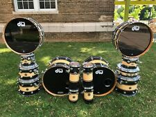 DW Collector's INSANE drum set ~ 14 piece w/ double woofer ~ Rally stripes