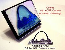 St Louis Arch Rubber Stamp With Custom Address/Message