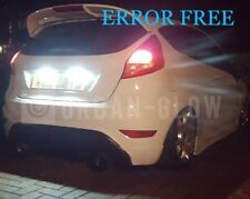 FORD FIESTA MK7 CREE LED XENON WHITE NUMBER PLATE LIGHT BULBS ERROR FREE ST