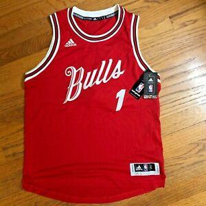 Derrick Rose Chicago Bulls Jersey Swingman Christmas Day NBA Adidas Size L Large