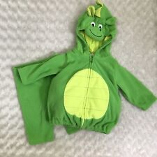 Carter's Dragon Costume Baby Size 3-6 Months Green Halloween Hooded Full Outfit
