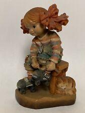 Anri Hc Italy Spring Fever Figurine Rare Oil on Maple Sarah Kay Sands #563/2000