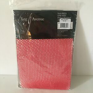 Leg Avenue Red Fishnet Stockings 9001A One Size  New in Package 90-165 lbs