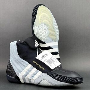 ~NEW~ 2006 Adidas Response Wrestling Shoes Size 9 Silver Black White RARE