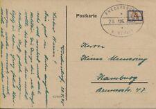 Lokal Fredersdorf Sp 105 I auf Postkarte nach Hamburg top! BPP-geprüft (B08254)