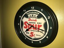 Spur Canada Dry Soda Fountain Diner Bar Man Cave AuthDealer Wall Clock Sign2