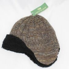 NWT LAKE of the ISLES Knit Aviator/Trapper Hat - Brown/Tan