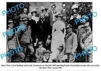 OLD LARGE PHOTO SOUTH AUSTRALIAN BOER WAR TROOPS MARBLE HILL c1902