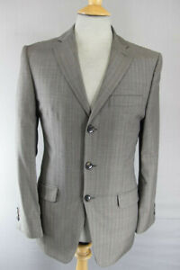 BRAND NEW STVDIO BY JEFF BANKS PURE WOOL STRIPED TAUPE JACKET 36 INCH: RRP £119
