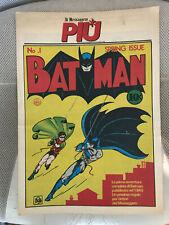 5.5 FINE- FN- BATMAN # 1 EURO NEWSPAPER VARIANT RRP SDCC YOP 1989 WP