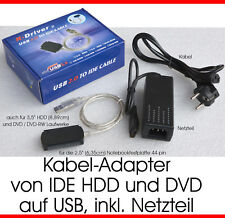 UNIVERSAL: DVD RW CD-RW HARDDISC EXTERN ANSCHLIEßEN VIA USB TO PC NB EXTRA POWER