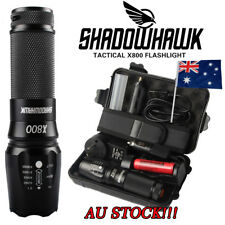 15000lm Genuine Shadowhawk X800 Tactical Flashlight L2 LED Zoom Military Torch