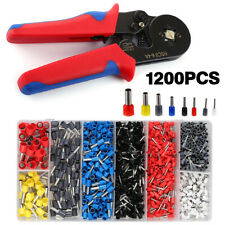 1200pcs Cable Wire Electrical Terminals Ferrule Crimper Plier Crimping Tool Kit