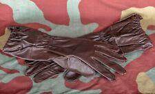 Guantes Piel Marrón Paracaidista Alemán, Ww2 German Airborne Leather Gloves