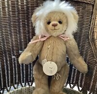 """Happy Tymes Rare LE Artist Bev White Signed """"Blunder"""" Jointed Mohair Bear"""