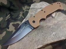 CRKT Crawford Kasper Tan Folding Knife Black Drop Point Stainless Folder 6773DB