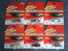 Johnny Lightning THUNDER WAGONS R3 Complete Set 6 Cars MOC Corvette Chevy Nomad